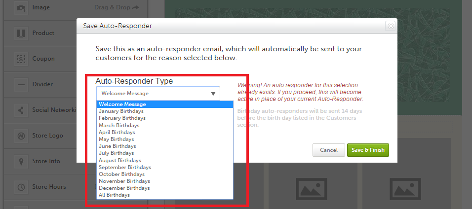 Setting up a welcome autoresponder – BROWSE HELP TOPICS: