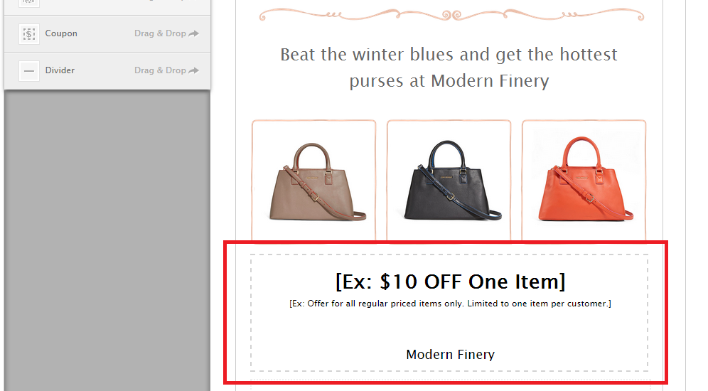 adding coupons to your website using the coupon widget browse help