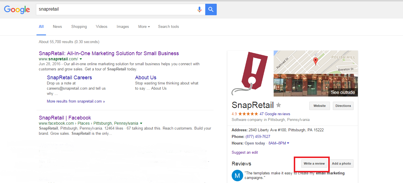 Google review email templates browse help topics copy the url at the top wajeb Gallery