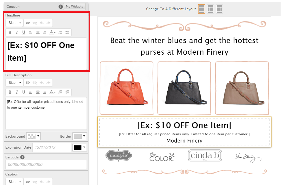 Adding coupons to your website using the coupon widget – BROWSE HELP ...